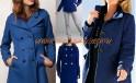 синие драповые пальто