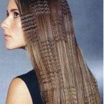 Гофре на длинных волосах