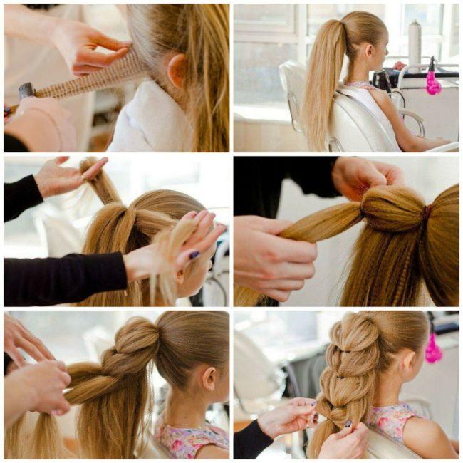Схема плетения косы «Жасмин»