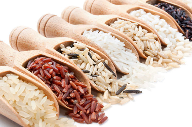 смесь сортов риса