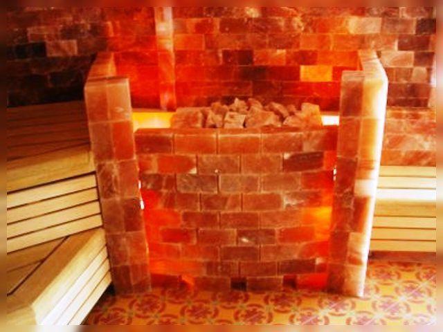 Солевые блоки в сауне