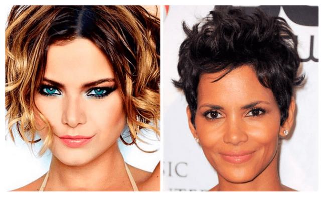 Два варианта стрижки боб-каре на короткие волнистые волосы