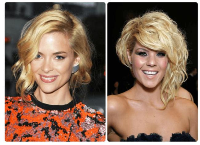 Асимметричное каре на средние волосы: два варианта