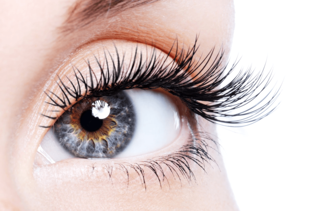 Глаз с длинными ресницами