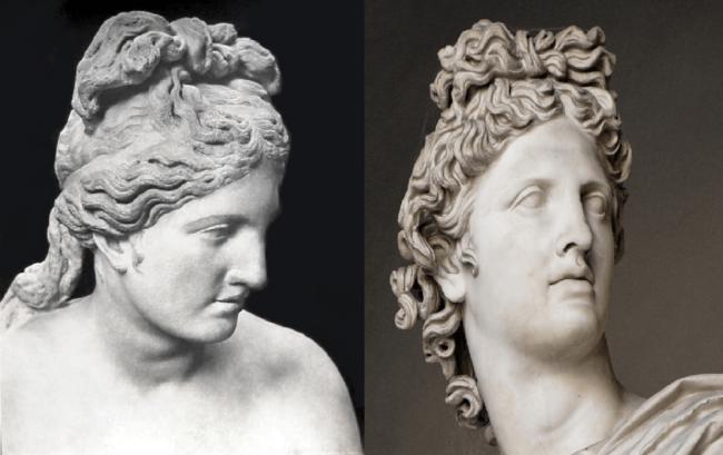 статуи Венеры Капитолийской и Аполлона Бельведерского