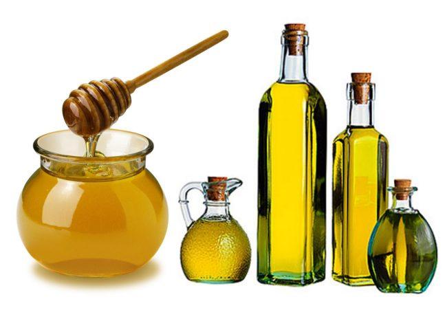 Мед и репейное масло для красоты волос