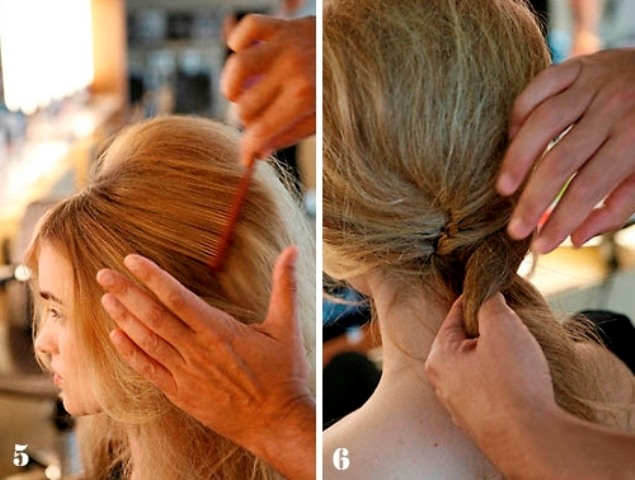 Укладка волос в виде ракушки