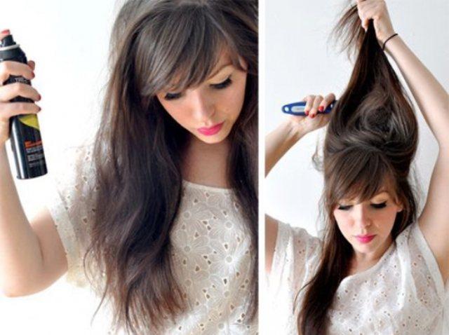 Как сделать начёс на длинных волосах